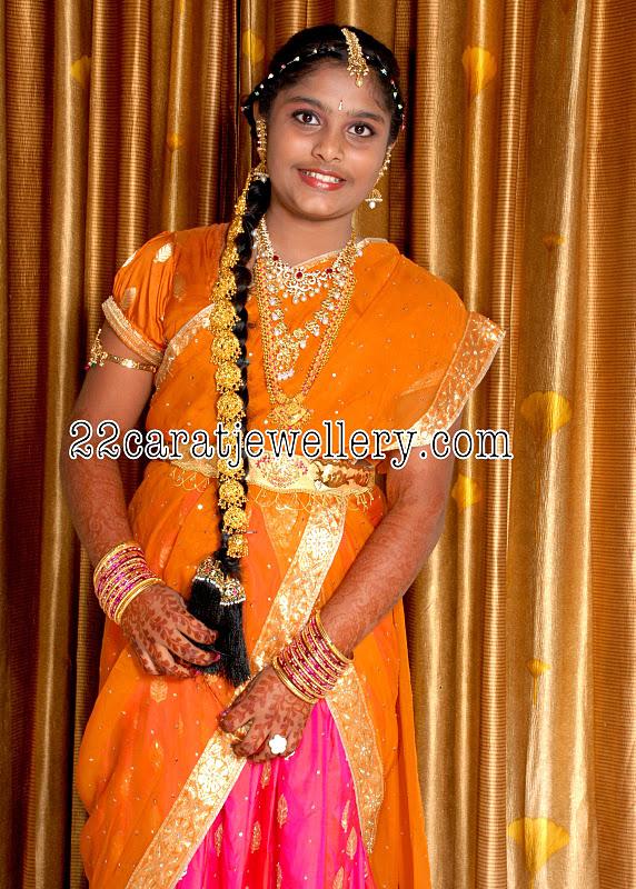 Half Saree Langa Voni Ceremony Jewellery Jewellery Designs