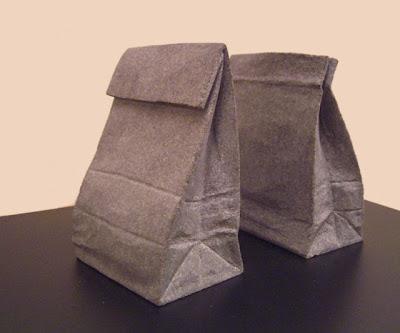 Bolsas de papel hecha de piedra