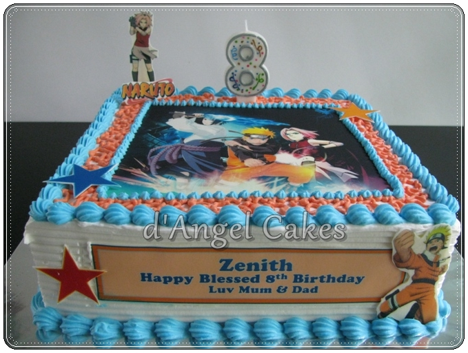 D Angel Cakes Naruto Cake For Zenith