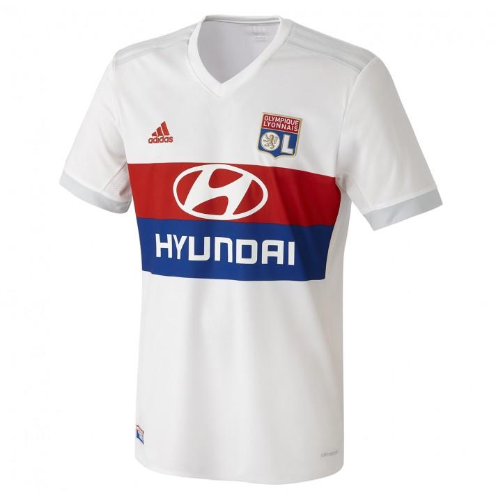 +2. The new Lyon 2017-2018 home strip is predominantly white with tonal  Adidas ...