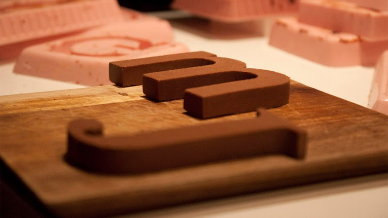 letras de chocolate Chocography