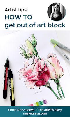 How to get out of art block, Sonia Nezvetaeva, illustrator