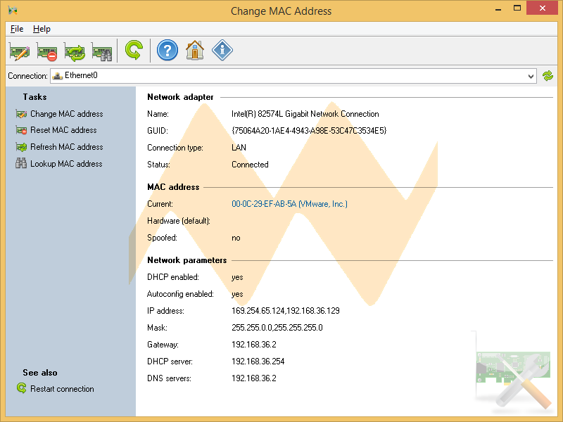Change MAC Address 2.8.0 Build 95