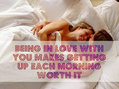 in love good morning images with quotes