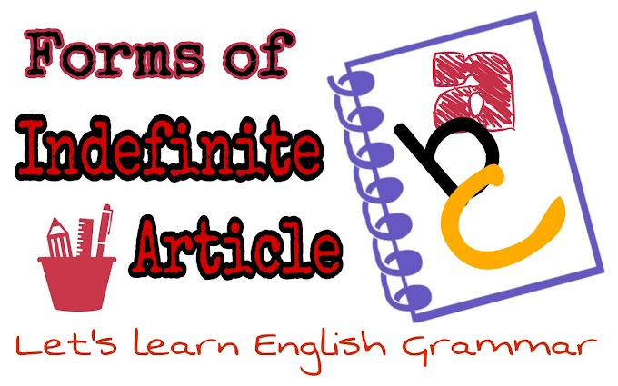 Indefinite Article Forms