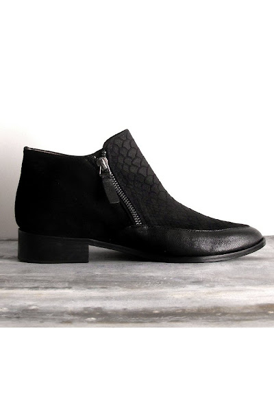 Bottines Emma Go snake noir Delaney