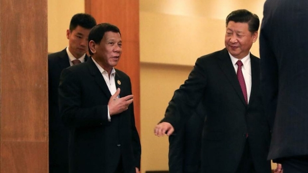 Philippine President Rodrigo Duterte and Chinese President Xi Jinping.