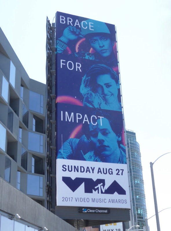 2017 MTV VMAs Brace for Impact billboard