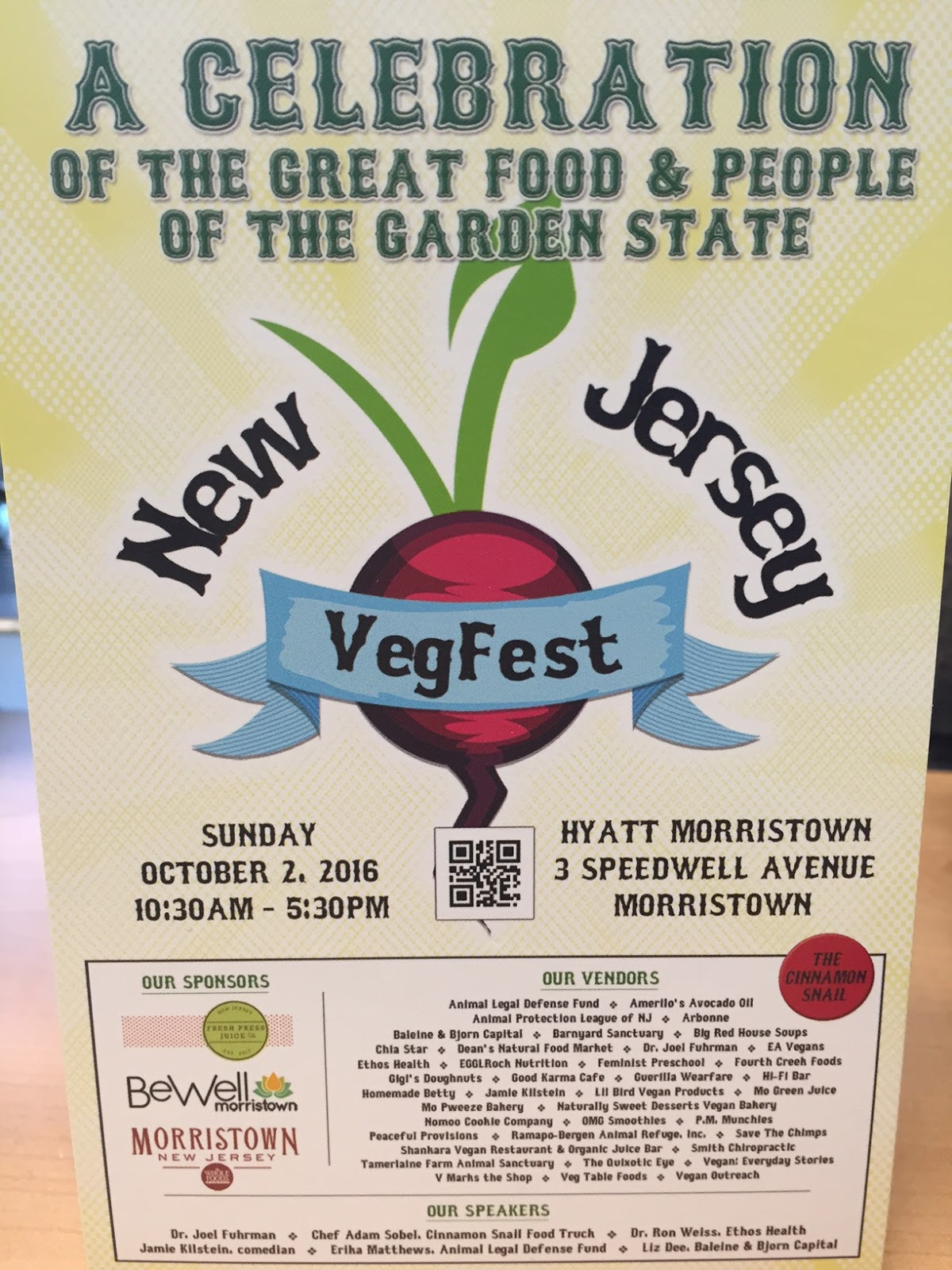 a soy bean my new jersey vegfest experience