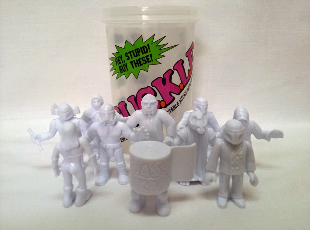 Little Rubber Guys Exclusive White S.U.C.K.L.E. Series 1 Mini Figures by The Super Sucklord
