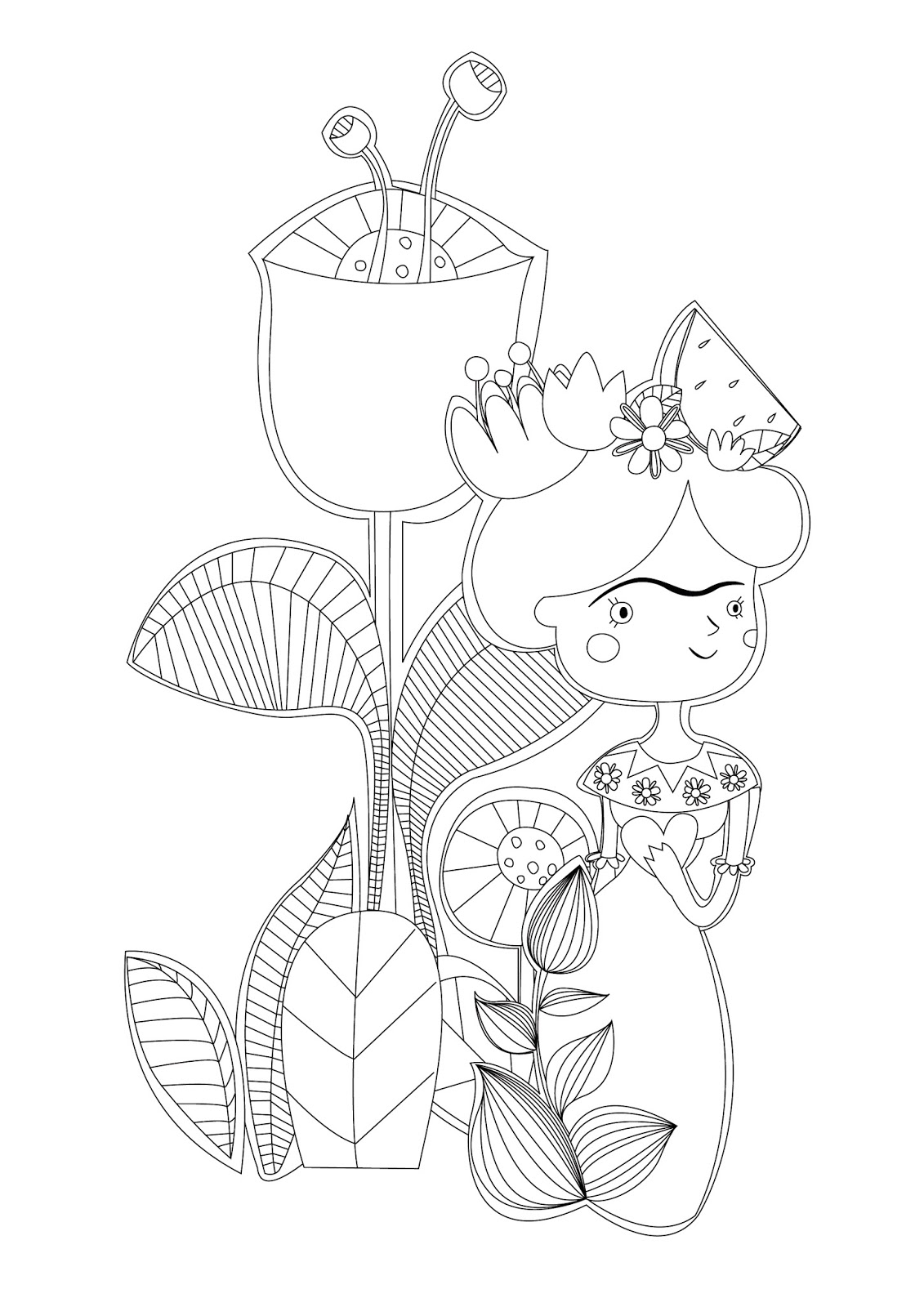 Frida Kahlo Coloring Coloring Pages