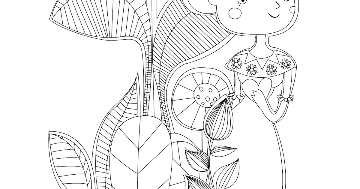 Frida Kahlo Kawaii Para Colorear: El Jardín De Kipuruki: FRIDA KAHLO COLORING PAGE FREE