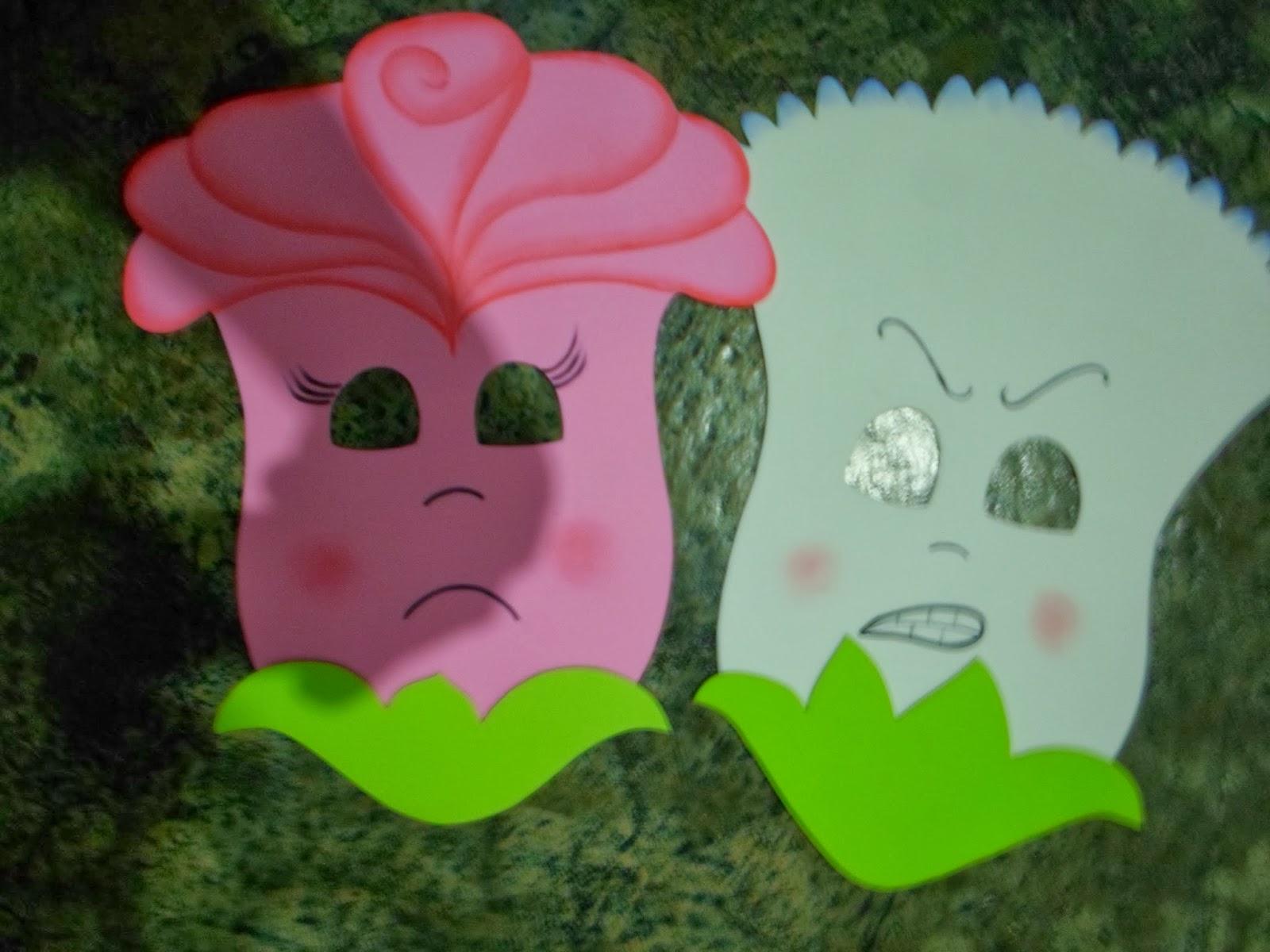 EVA&CIA: moldes de máscara cravo e a rosa minha invenção saindo do