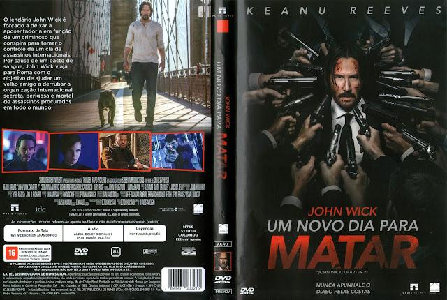 Capa DVD John Wick Um Novo Dia Para Matar (Oficial)