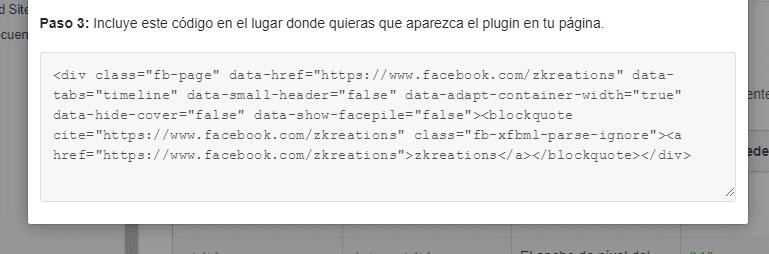 plugin paginas facebook html xmlns
