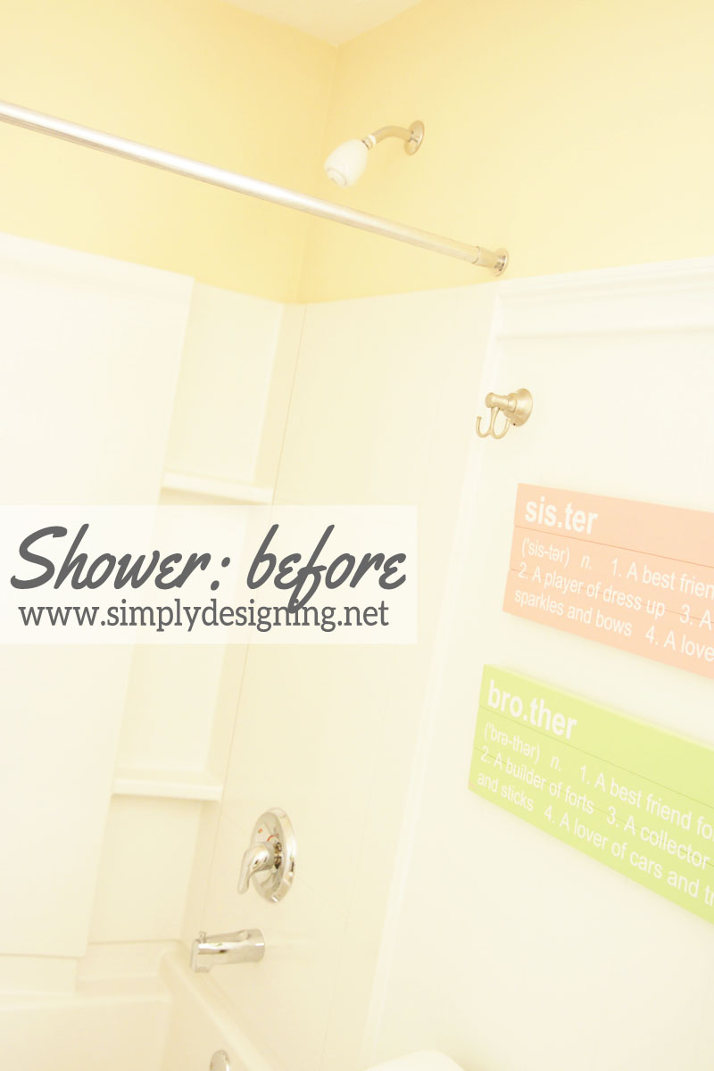 Shower: before | #diy #bathroom #bathroomremodel #remodel