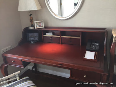 desk with provided tablet