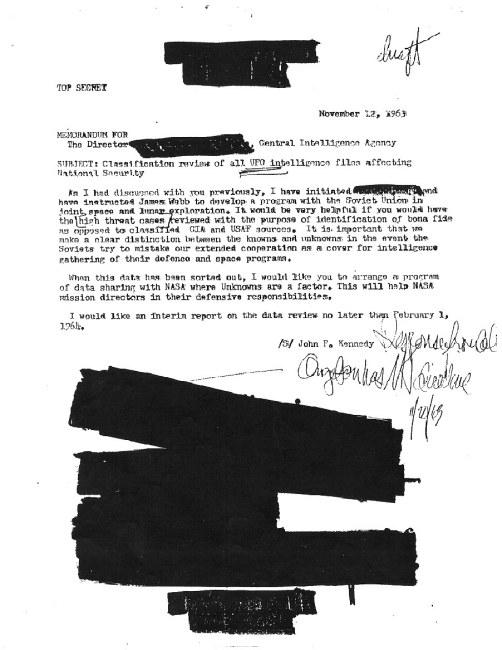 John F. Kennedy Ordered UFO Files Before He Was Killed
