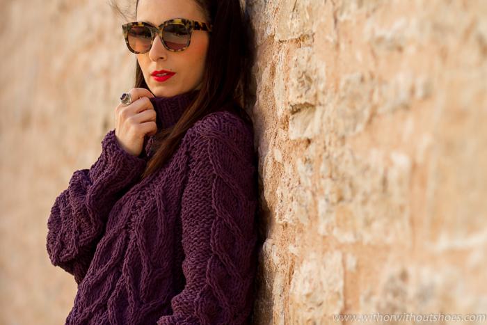 Blogger influencer de moda belleza lifestyle con looks bonitos y comodos para combatir el frio