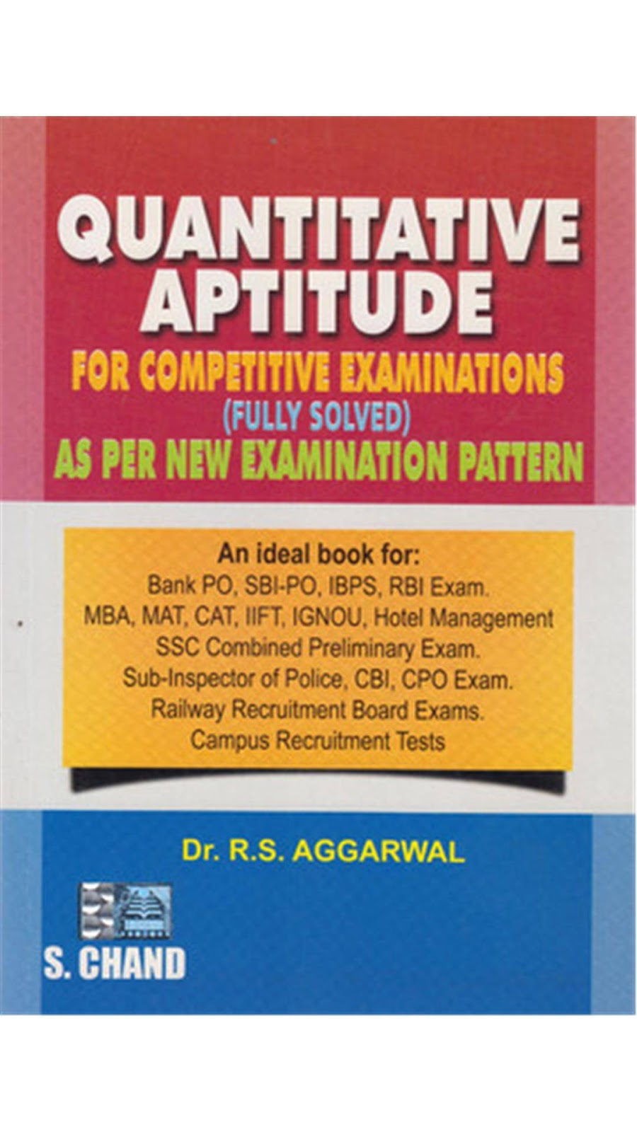 Quantitative Aptitude Fully Solved Rs Aggarwal Pdf 2012