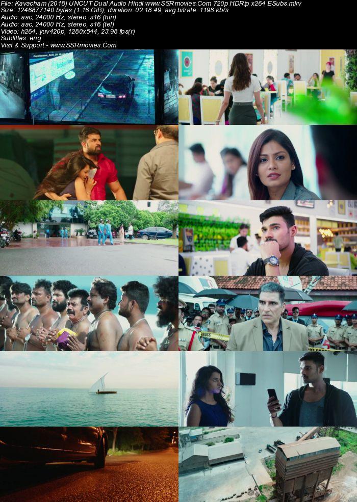 Kavacham (2018) UNCUT Dual Audio Hindi 480p HDRip x264 450MB ESubs Movie Download