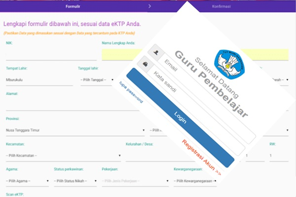 Untuk melakukan Verivikasi Validasi data kependudukan dalam app.simpkb.id harus login terlebih dahulu dengan menggunakan user dan paspor masing-masing guru. Bila user dan paspor SIM PKB