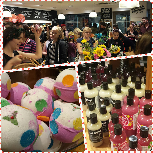 Busy busy! Christmas puds and shower gels.