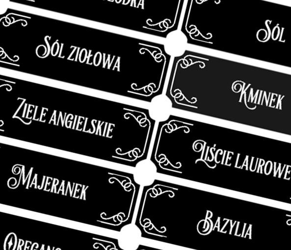 Etykiety Na Sloiczki Z Przyprawami Do Samodzielnego Wydrukowania