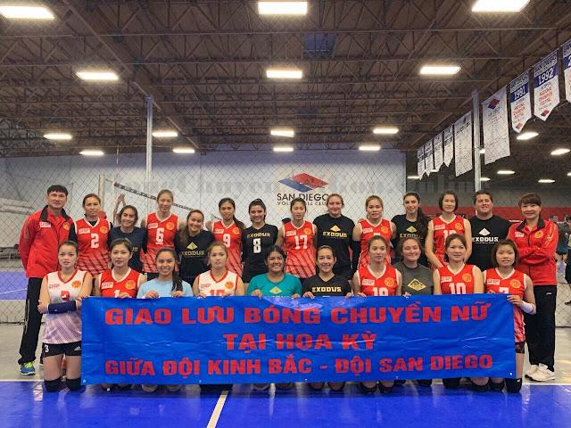 Tân binh nữ Kinh Bắc Bắc Ninh giao đấu với CLB SanDiego
