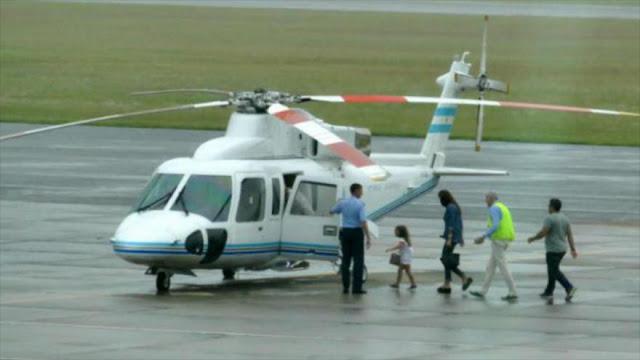 Polémica: Macri usa helicóptero presidencial para su familia