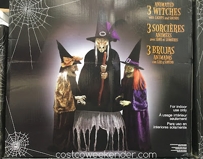 Get into the Halloweedn spirit with the 3 Animated Witches with Lights and Sounds
