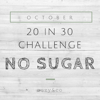 20 in 30 challenge for October | no sugar | realfoodsimple.com