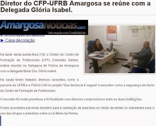AMARGOSA:O que é Caso de Policia  na UFRB-CFP?