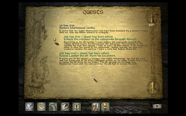 Divine Divinity quest journal screen