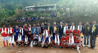 Football tournament at Rungbee division ground