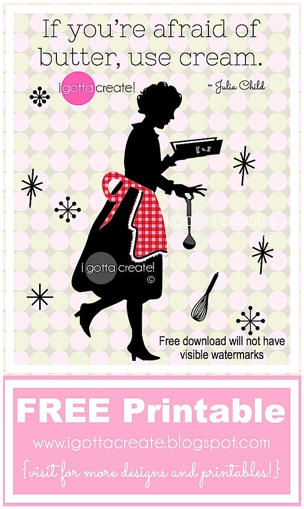 image relating to Free Kitchen Printables called I Gotta Acquire!: Cost-free Retro Kitchen area Printable