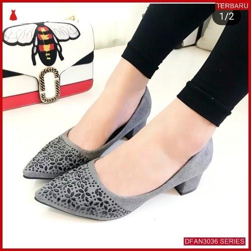 DFAN3036S136 Sepatu Js19 Hak Tahu Wanita Sol Karet BMGShop