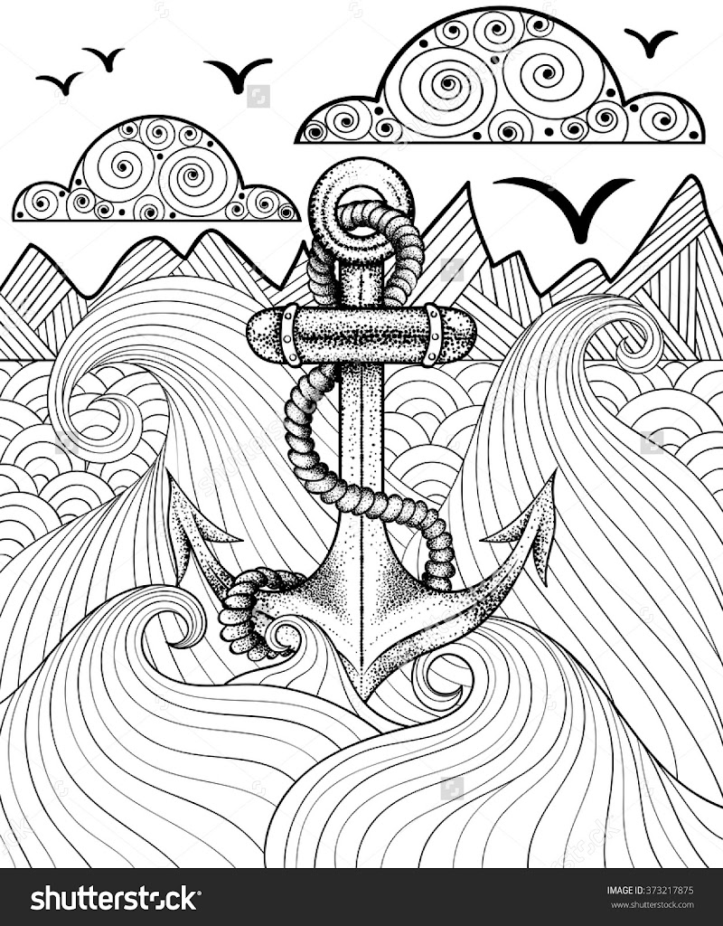 Best Anchor Coloring Pages Drawing