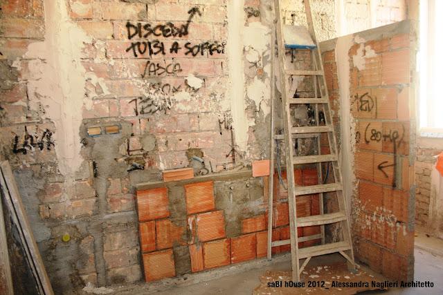 muretto in mattoni wall with bricks