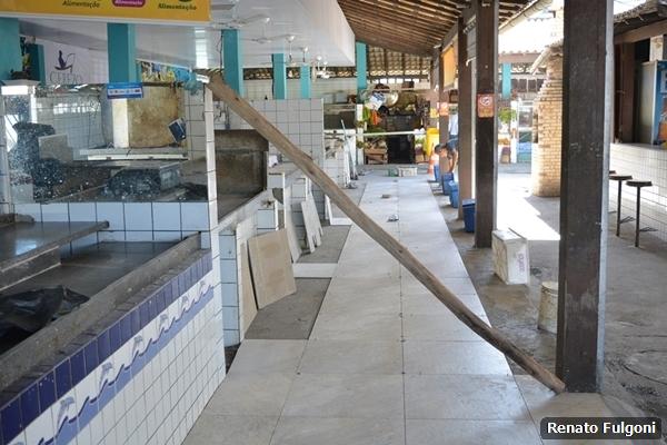 Mercado Municipal de Peixe de São Pedro da Aldeia recebe obras de melhorias