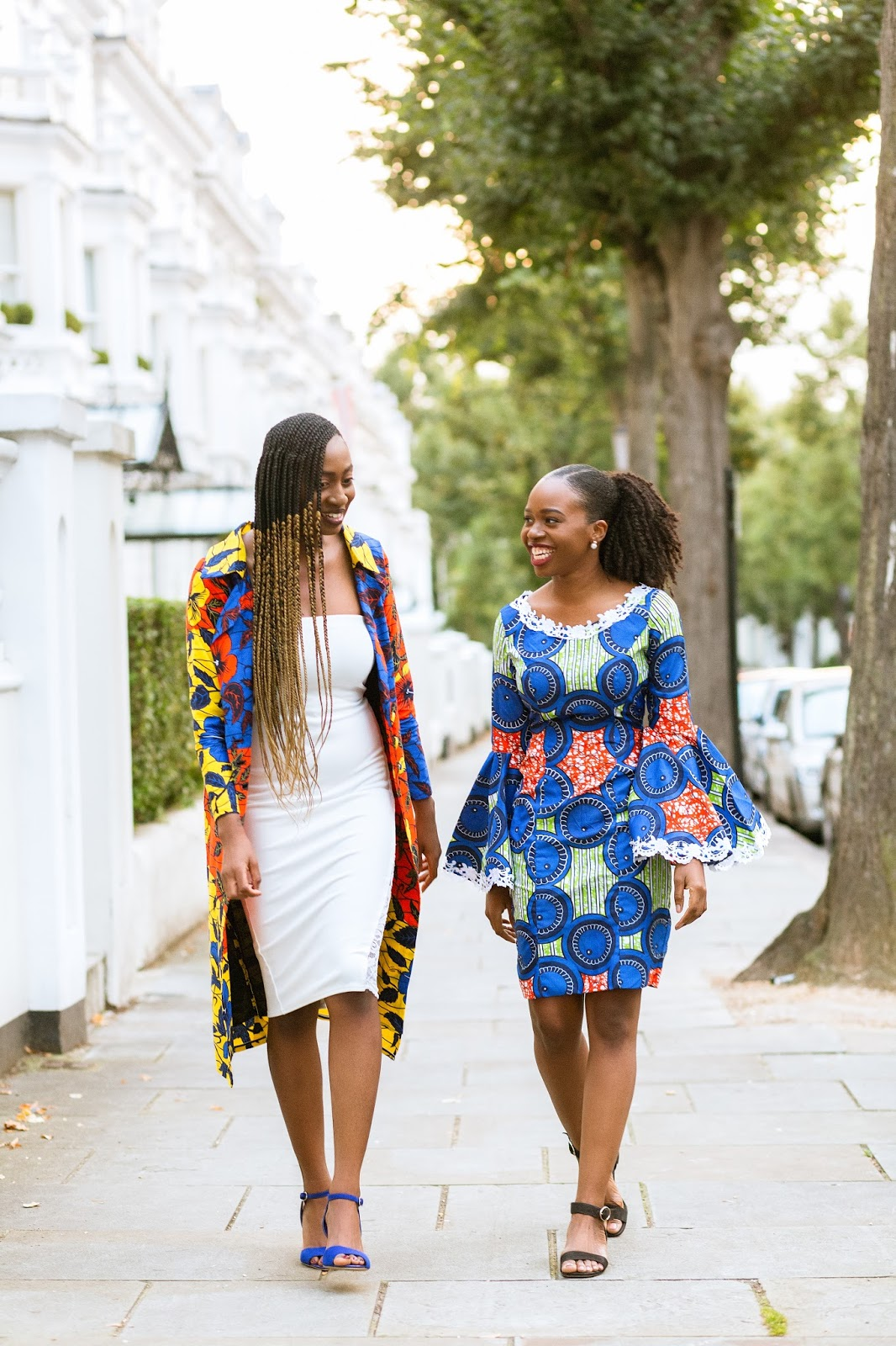 Ankara Dresses on Black Female Fashion Bloggers in the UK