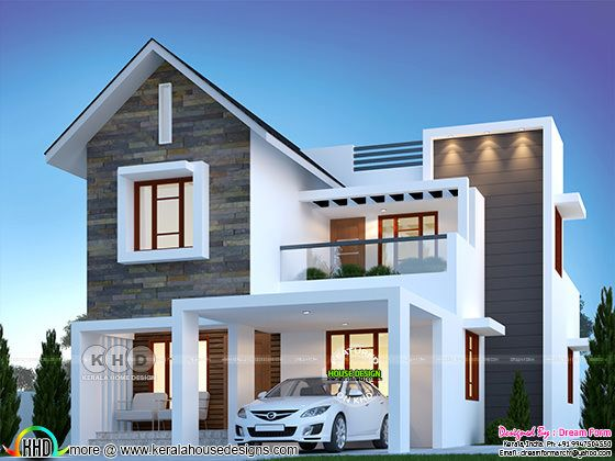 4 bedroom 1900 sq.ft modern home design