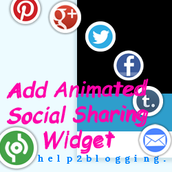 Add Animated Social Sharing Widget With Cool Hover Effects