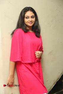 Actress Arundathi Nair Stills in Red Chididar at Bethaludu Success Meet  0052.JPG