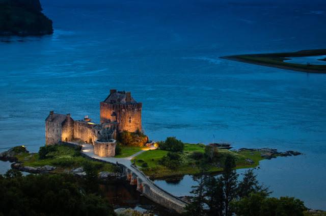 Eilean Donan, Loch Duich pulau, Skotlandia