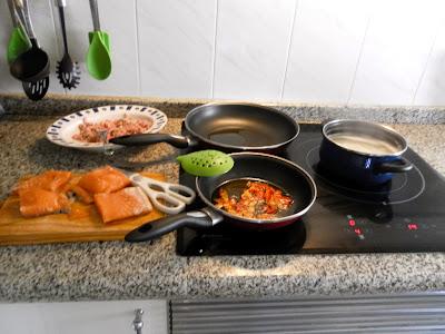 ensalada, ensalada de arroz, salmón, que comemos hoy, receta,