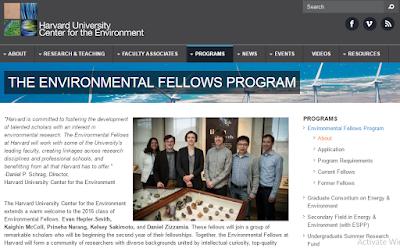 beasiswa lingkungan di harvard amerika