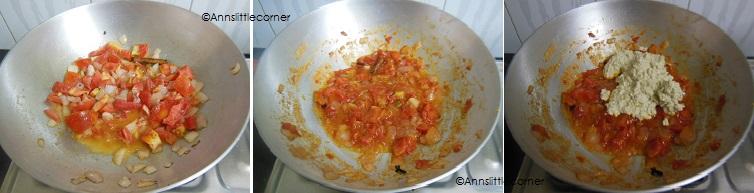 How to make Tomato Kurma- Step 3