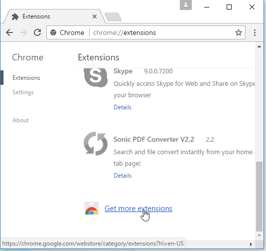 get more extensions for chrome