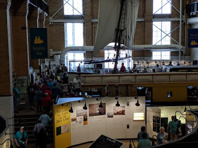 View of exhibit galleries at Erie Maritime Museum